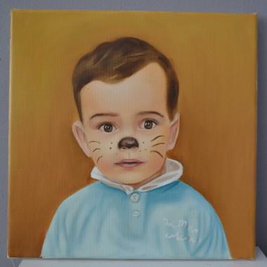 Portrete pictate: Baiatul motan