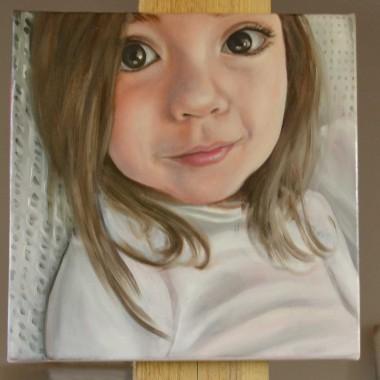 Portrete pictate: Fetita