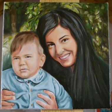 Portrete pictate: Mama si copilul