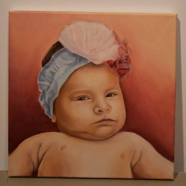 Portrete pictate fetita