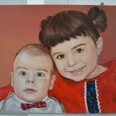 Portrete pictate frate si sora