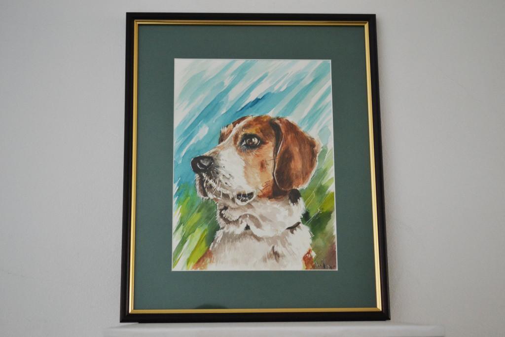 Tablou Caine Beagle 32x29 cm 100 RON